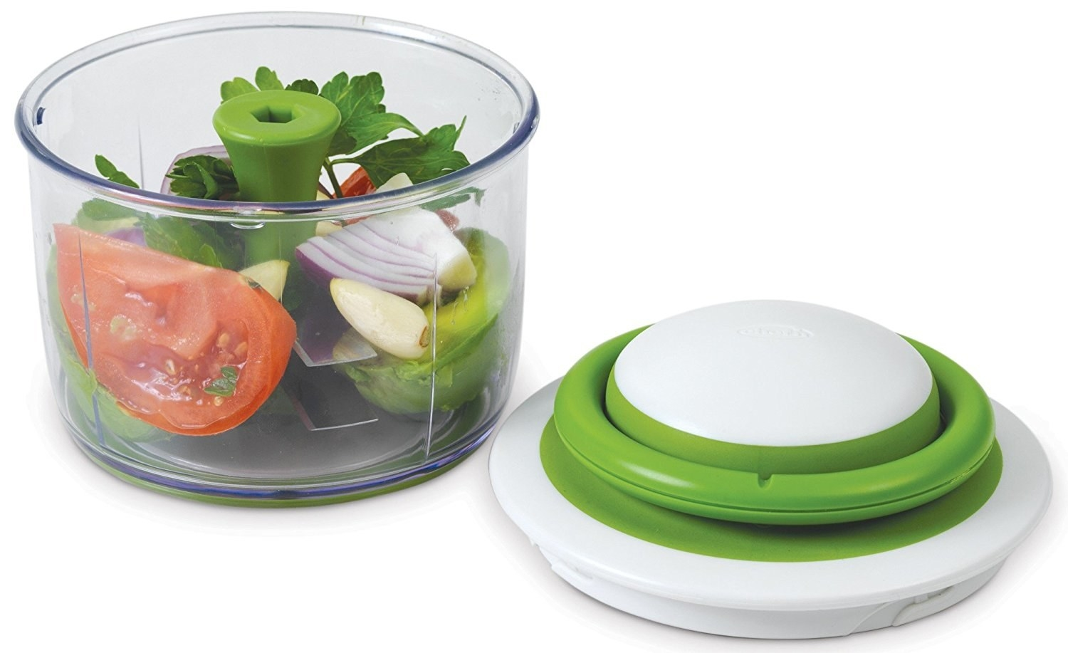 This chopper gives you full control over the consistency — you can get anything from large chunks to a fine mince depending on how many times you pull it. In addition to cutting up veggies for salads, it can make pesto, hummus, salsa, and guacamole. It also comes with a sealing storage lid to keep ingredients fresh in the container. —Derek Spiewak, FacebookGet it from Jet for $24.30.
