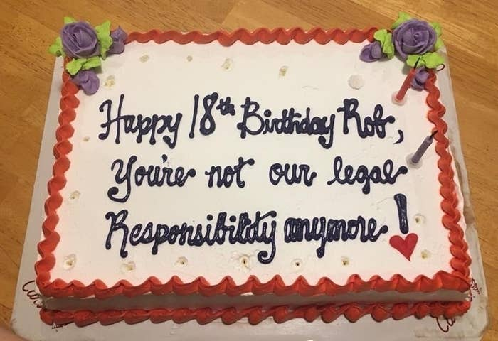 This Birthday Cake From A Couple Of Unconcerned Parents