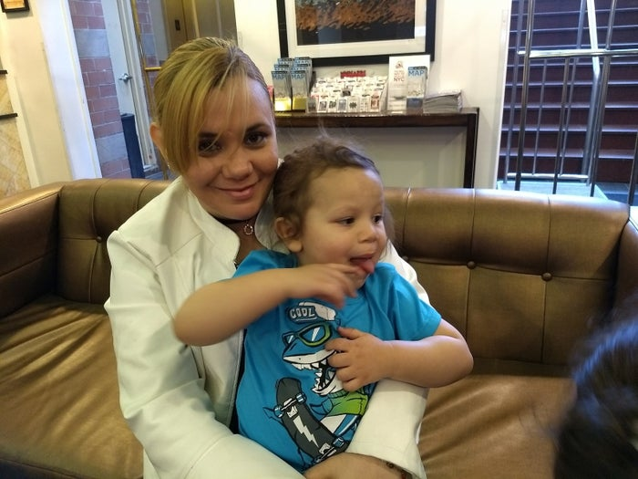 Desiree Cancela and her son.