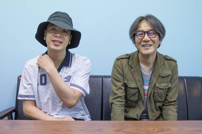 岡田惠和(右)と峯田和伸