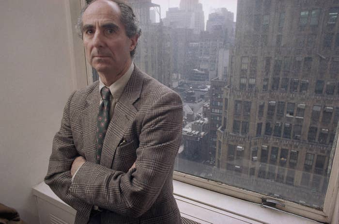 Novelist Philip Roth poses in March 1993.