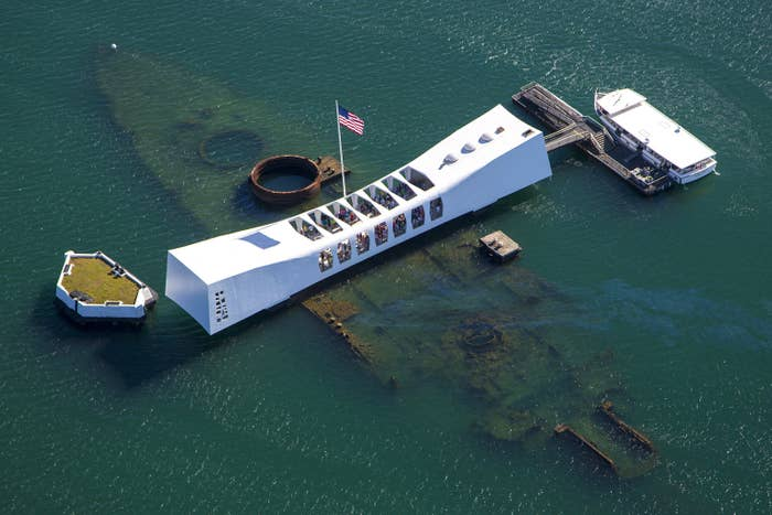 The USS Arizona Memorial marks the resting place of sailors and Marines killed on the battleship during the Japanese surprise attack on Pearl Harbor on Dec. 7, 1941.