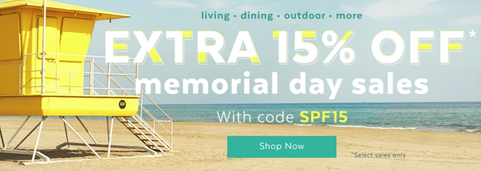 There are deals in DOZENS of different categories (think of it as many, many small sales coming together into one larger event) and you get to take an **extra** 15% off all the products in each mini-sale when you enter the promo code SPF15 at checkout (meaning = already discounted products get even cheaper✨).