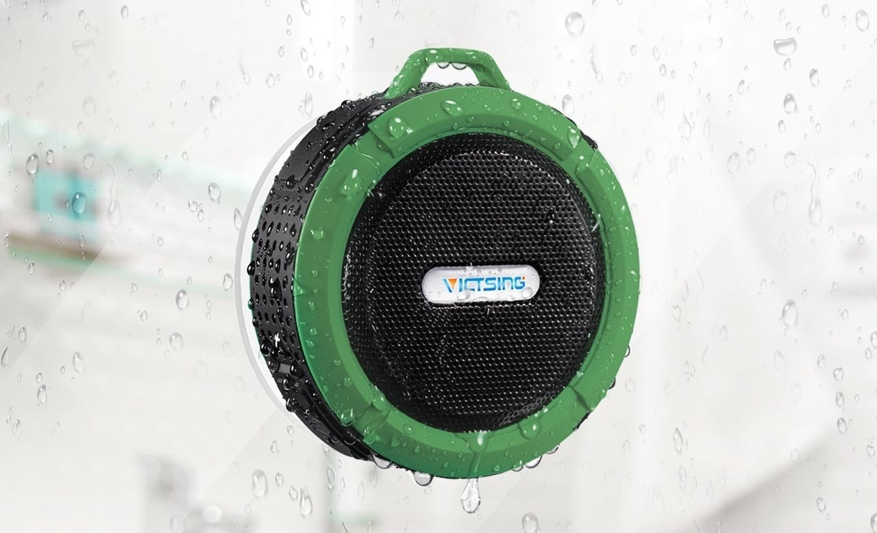 "Promising review: ""I bought this because it was cheap and I needed a Bluetooth speaker for the beach. This thing works great. I have had it for almost eight months, have beat the living crap out of it, and it still sounds just as good as day one. It has endured showers, beaches, boats, lakes, deserts, everything! It is super durable too, and has fallen more than once with no damage to it."" —Amazon CustomerGet it from Amazon for $18.99+ (originally $45.99, available in four colors)."