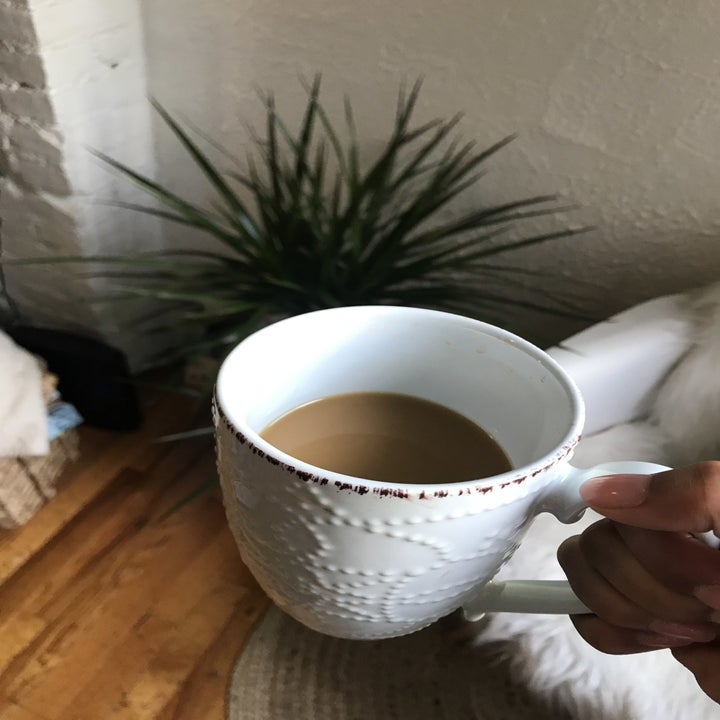 mug with coffee in it