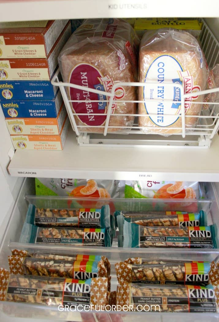The tray doesn't need anything special installed, it just slides easily in and out. From Graceful Order; this is her pantry cabinet (not a walk-in). Get a similar drawer on Amazon for $20.98. The exact tray she uses isn't online, but two shallow plastic fridge organizers side-by-side would work similarly; get a pack of two on Amazon for $14.99.