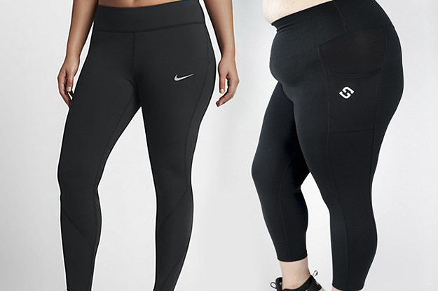 5edd40f830b158 I Tried Six Pairs Of Plus-Size Workout Leggings To Find The Best Ones