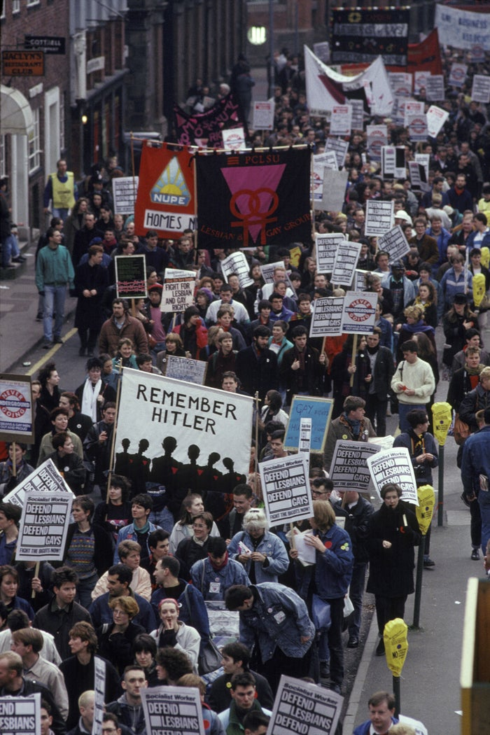 National demonstration against Clause 28, Manchester, 1988.