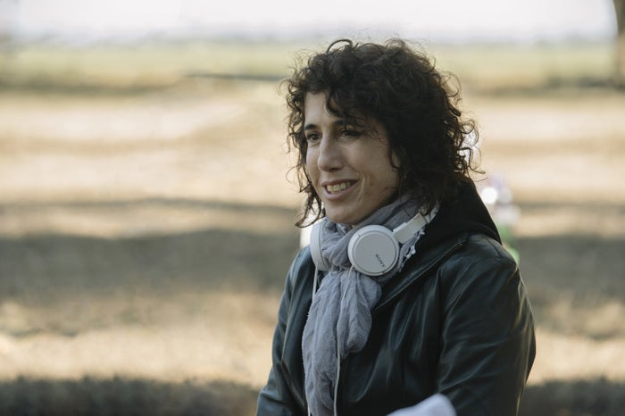 Jennifer Fox, writer and director of the autobiographical movie The Tale, on set.