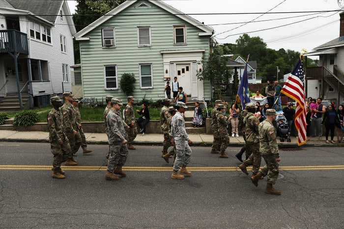 An annual parade in Naugatuck, Connecticut on Monday.