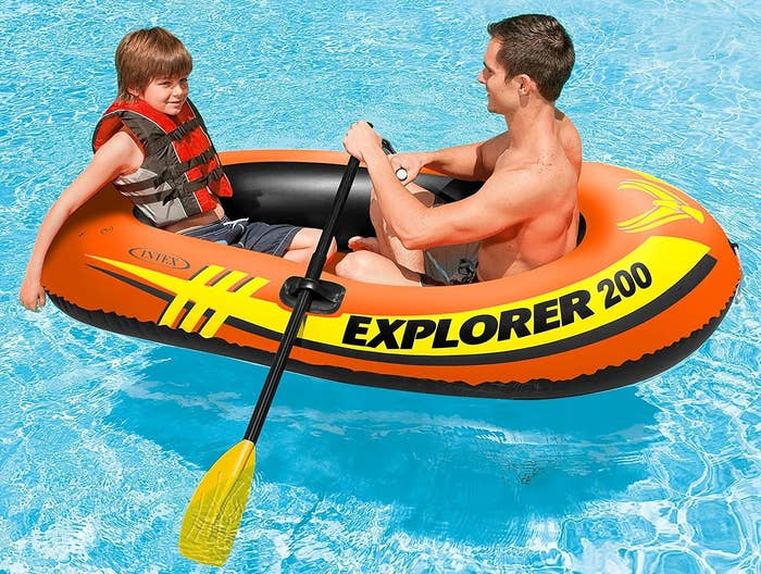 1ec1e0471535a2 An explorer float to pair with some oars so you can turn your pool into a  canoe-able lake, without having to venture to an actual lake.
