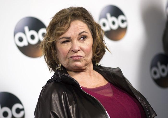 Roseanne Barr at an ABC press event Jan. 8 in Pasadena, California.