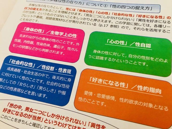 岡山県倉敷市教育委員会が作った資料「性の多様性を認め合う児童生徒の育成」より