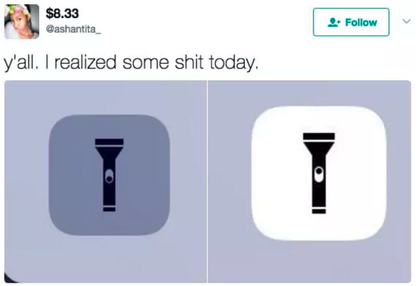 How the flashlight app works: