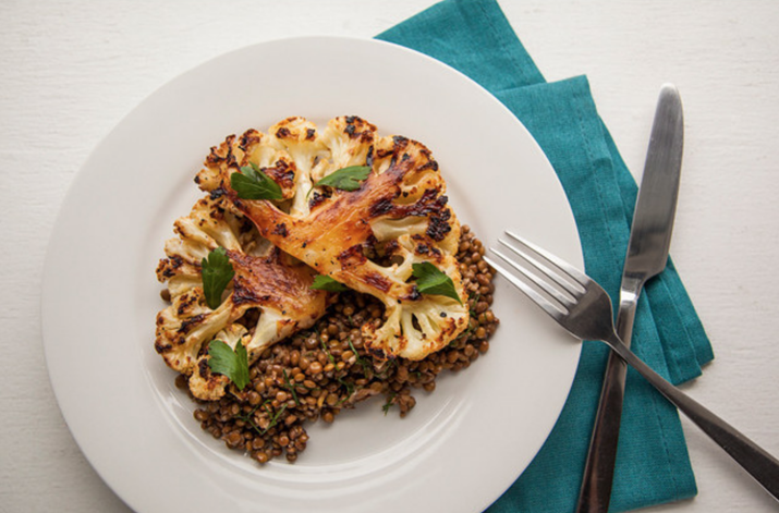 Another great way to include more lentils in your diet, this time with a delicious cauliflower steak. Get the recipe here.