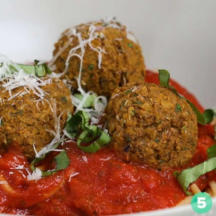 Lentils are another great vegetarian protein source. You can make them as a dal or a soup, or if you want to get off the beaten path, why not try these vegetarian meatballs? Get the recipe here.