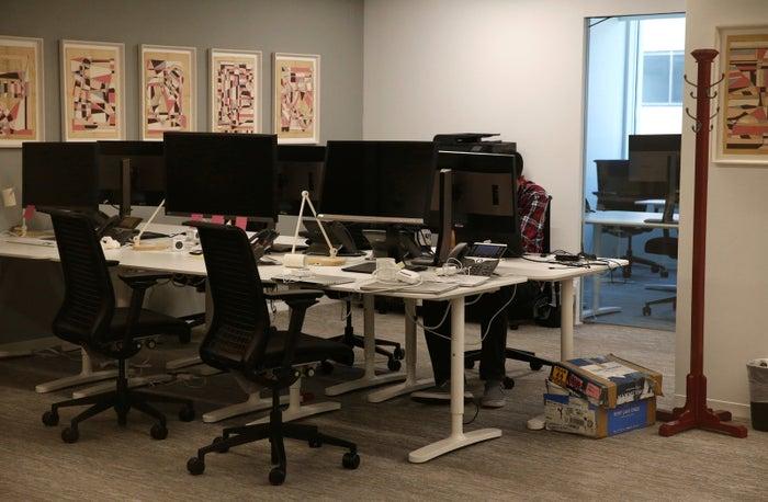 Cambridge Analytica's empty Washington, DC, office on May 2.