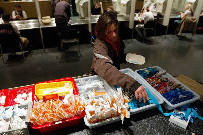 A safe injection facility in Vancouver.