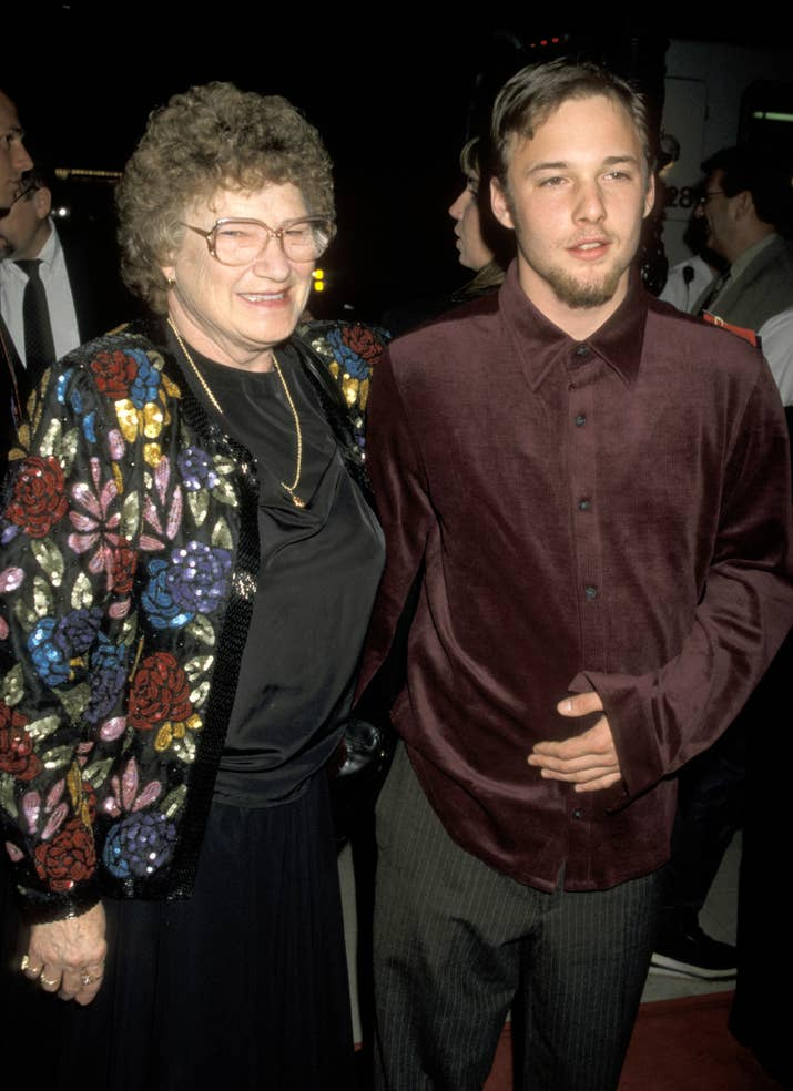 Renfro with his grandmother, Joanne, at the premiere of Apt Pupil on Oct. 6, 1998.