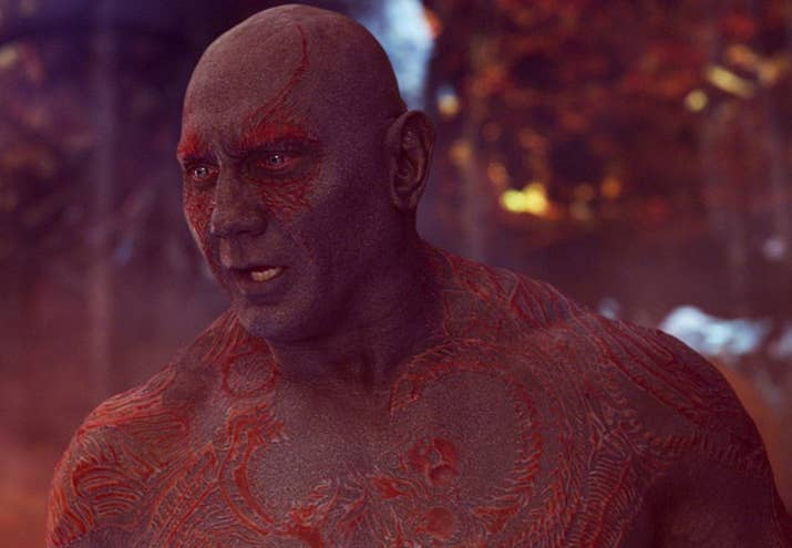 Crystal: So, I have that thing where patterns/holes creep me out, and there's no way I could get over his raised tattoos! Also, his laugh might annoy the shit out of me?! And he's pretty rude?! Oh, man, IDK…love Drax as a friend, but not as a lover. 2/10Jenna: I love Drax. He's SO funny. I'd love to get together with him and talk about pirate angel Thor's magnificent, rippling muscles for hours. Would I want to bang him? I mean…possibly? I have several questions about his sensitive nipples, and I wouldn't be above field research. 4/10Thirst level: 3/10