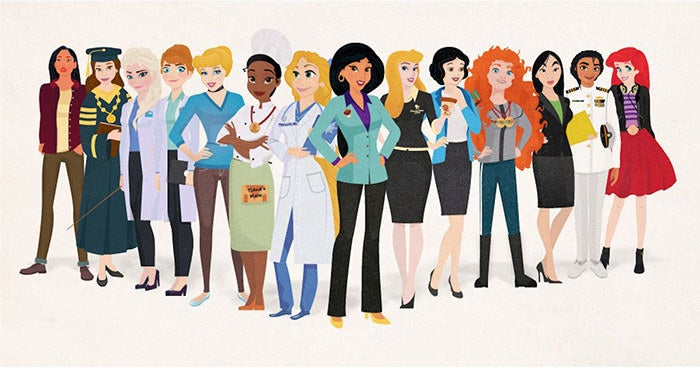 Burt created these princesses for his employer, Simple Thrifty Living.