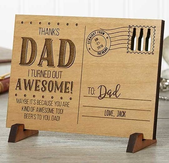 A Funny And Accurate Personalized Wooden Postcard Thats Card Gift All In One Hell Love Displaying It To Remind The World What An Awesome Kid He