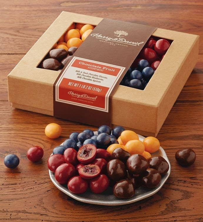 b5809f0e0b4 A box of Harry   David s legendary chocolate covered fruit for your very  sweet dad.