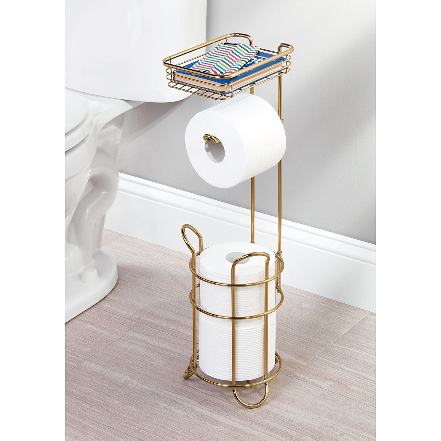 Bathroom Fixtures Self-Conscious New Arrivial Kitchen Towel Holder Roll Paper Storage Rack Tissue Hanger Under Cabinet Door High Resilience Bathroom Hardware