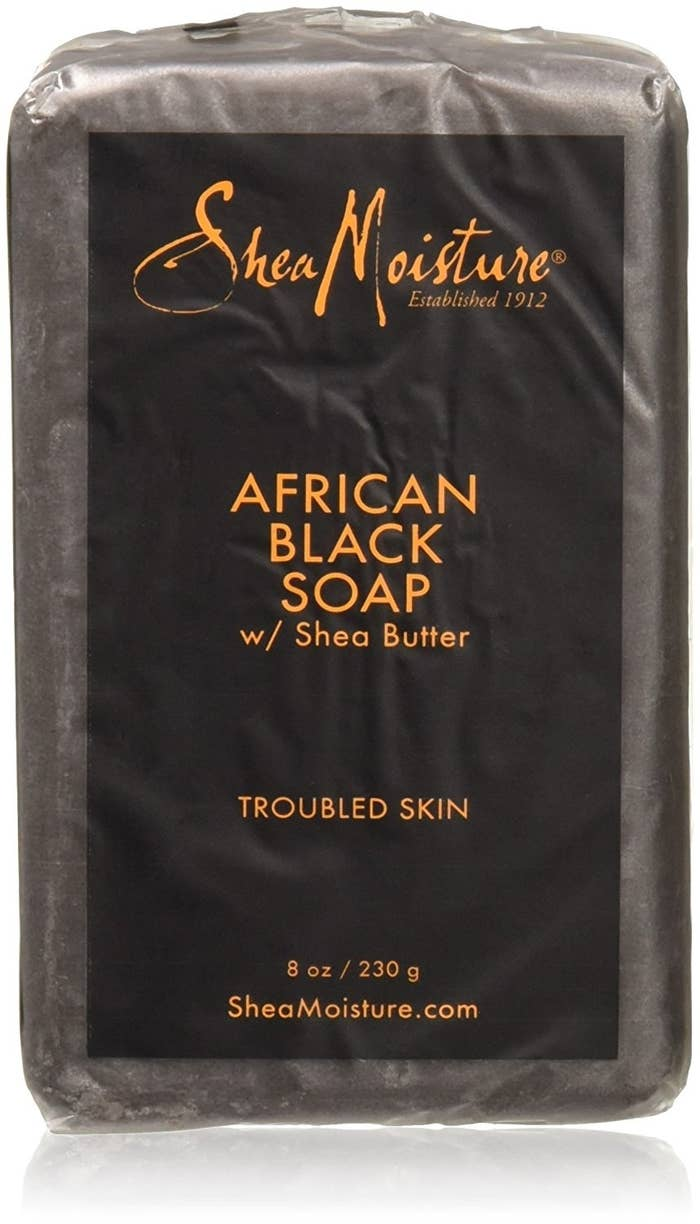 It's black because it's made with ash to produce natural lye, instead of harsh chemicals. This brilliant bar has a light, sweet smell and is also cruelty-free, so you can feel good inside and out about using it. While the soap's primary use is for skin woes, reviewers have also mentioned using it to wash their hair or even clean makeup brushes! You're getting major bang for your 5 bucks.
