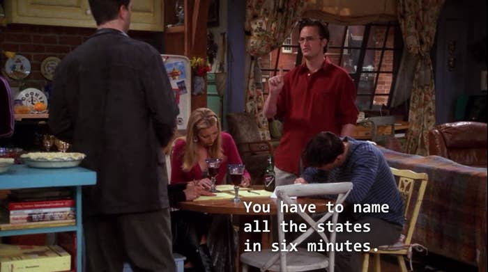 Can You P Chandler Bing's U.S. States Test?  States Test Game on