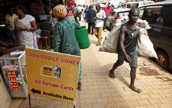 Mobile money transactions are a popular method of payment in Uganda.