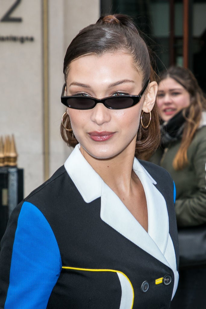 "Yes, those small sunglasses — you've seen them around. The '90s-inspired ""microshades,"" which are often sported by celebrities like Bella Hadid and Kendall Jenner, are one of the hottest fashion trends of 2018. We don't know why or how this happened, but it did."