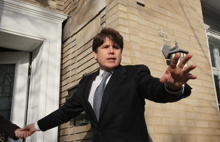 Former Illinois Gov. Rod Blagojevich outside his home in 2011.