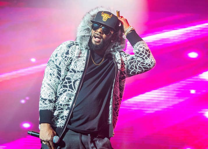 R. Kelly performs at Little Caesars Arena on Feb. 21, 2018, in Detroit.