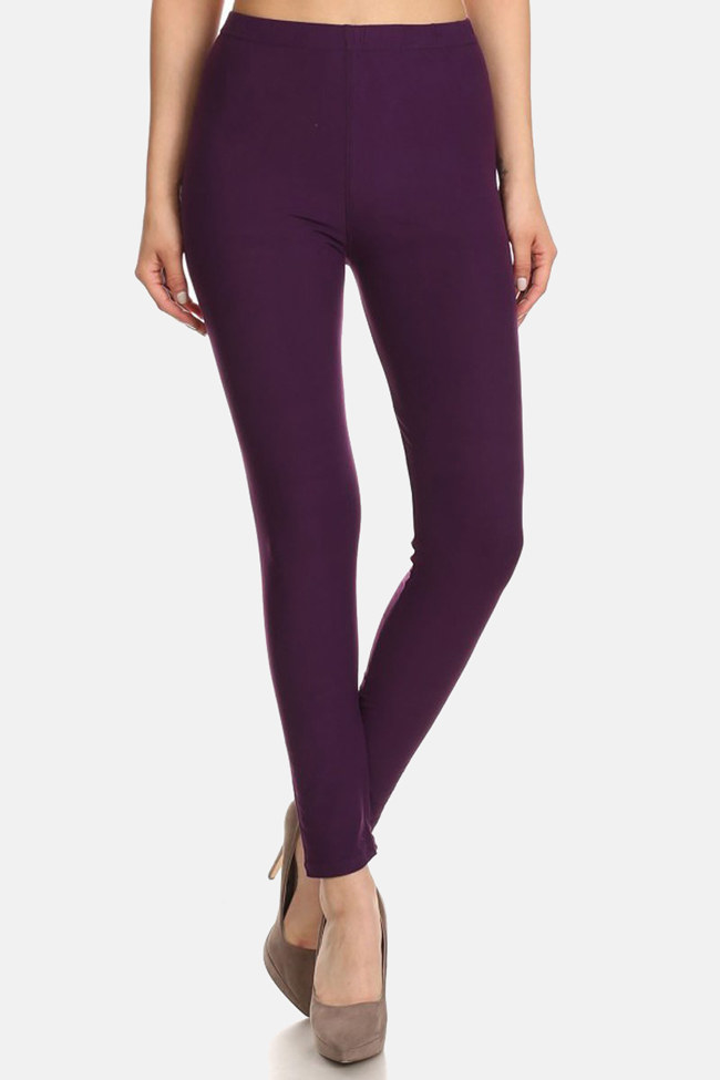"""Promising review: """"These leggings are comfortable and sexy! The fabric is heaven. They are so soft and stretchy. I bought these in pink, and my husband nearly lost his mind when he saw and felt them. One time through the washer and dryer, and they are exactly the same. I'm 5'8"""" and 200lbs, and I ordered a plus-size pair."""" —M. BresnahanPrice: $10.99 (available in one-size, plus-size, and 3X-5X and 45 colors)"""