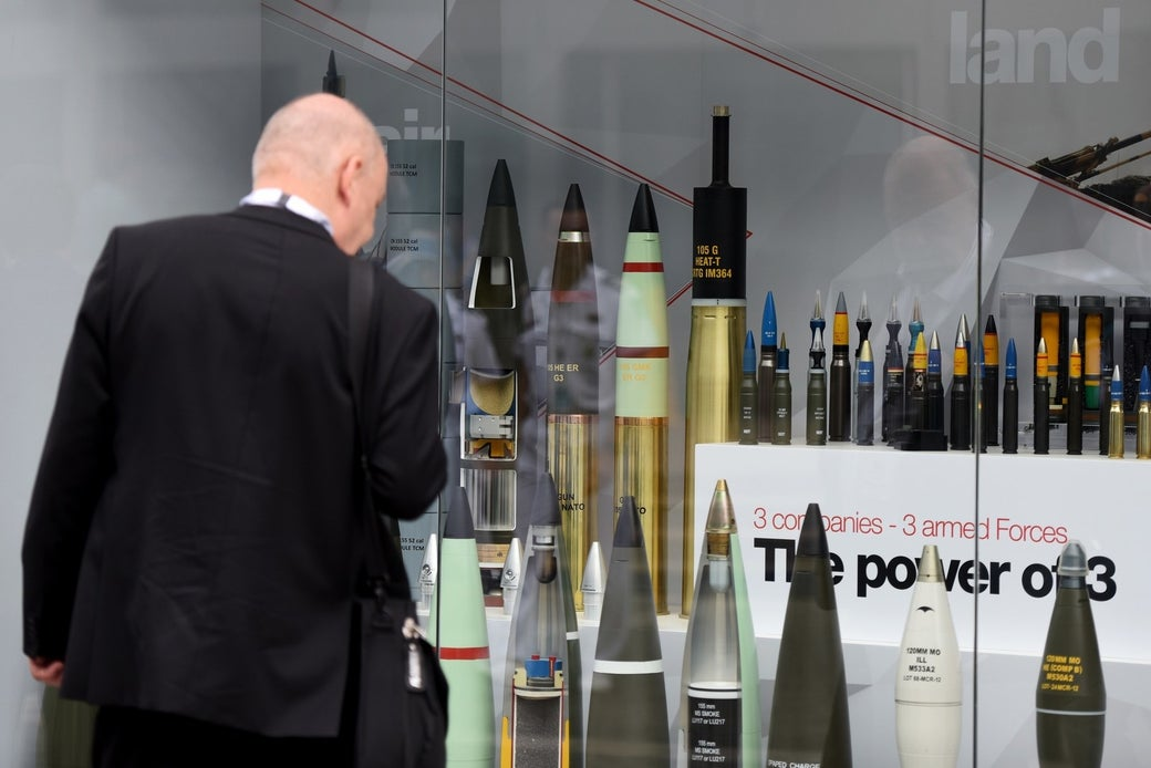 Munitions displayed at an arms sale exhibition last year in the UAE.