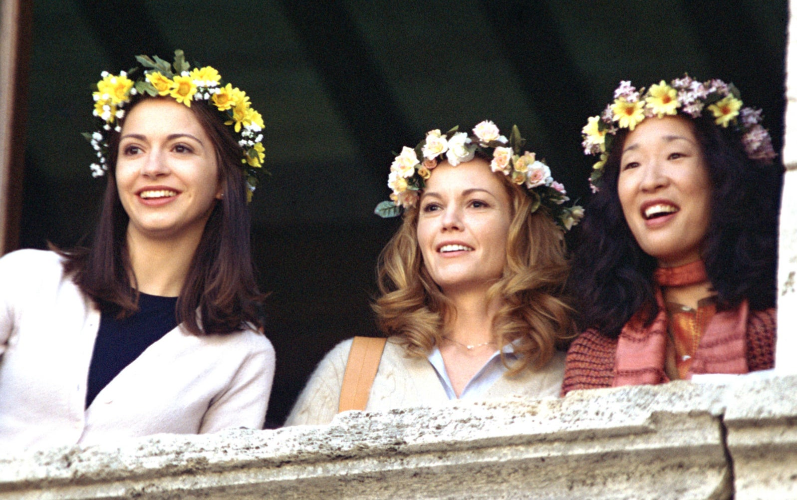 Oh with Diane Lane and Giulia Steigerwalt in Under the Tuscan Sun, 2003.