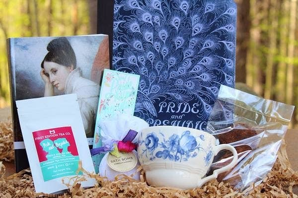 What you'll get: In the starter box, you'll receive a book, a couple of ~bookish items~, and your choice of coffee, tea, or hot chocolate. Upgrade to the standard box for a book, your choice of drink, a snack, a mug, a bookmark, and one or two bookish items. Get the starter box for for $25 per month or the standard box for $38 per month.