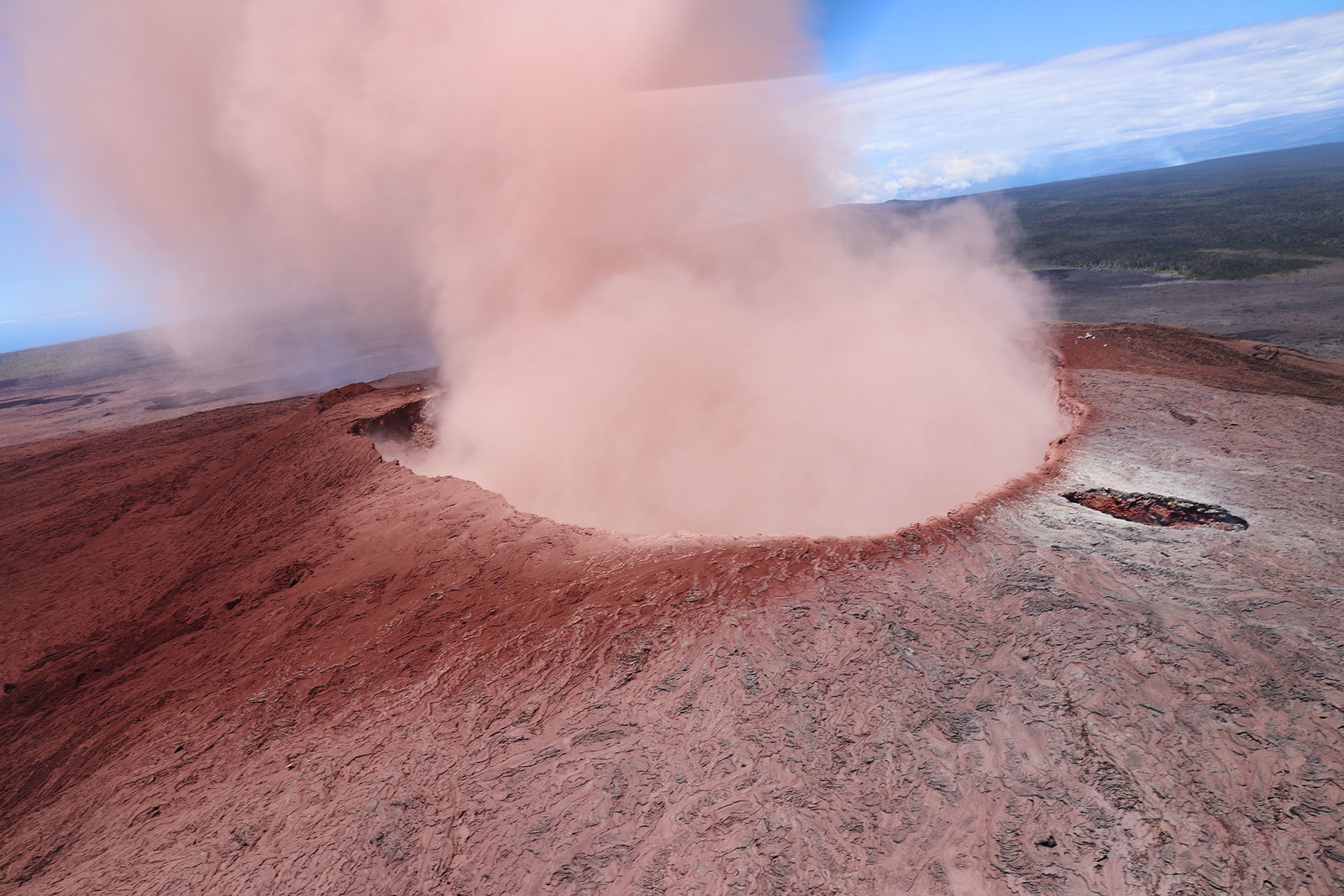 Ash spews from the Puu Oo crater on Hawaii's Kilauea volcano on May 3.