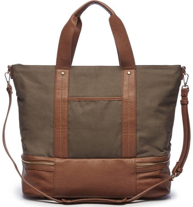 A Canvas Overnight Tote With Lots And Of Exterior Pockets So Nothing Is Left Out In The Open