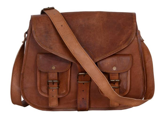 A Leather Shoulder Crossbody With Enough Hidden Areas To Pack In Every Nook And Cranny
