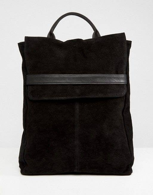 64c8d91654ba A suede belted flap backpack that ll take over when it comes to organizing  — all you need to do is toss it over your shoulder.