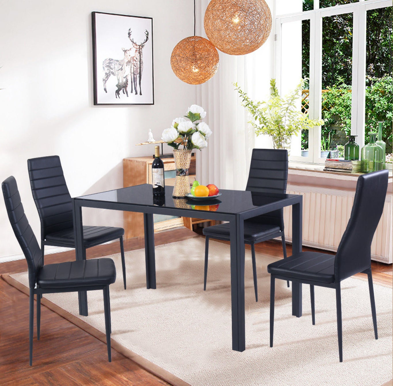 """Promising review: """"This is a beautiful & sturdy dinning set and doesn't look cheap at all. The seats are comfortable and assembly is easy and hassle free."""" —NikPrice: $159.99 (originally $179.99)"""