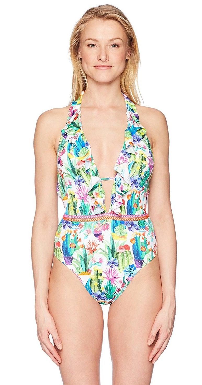 model wearing swimsuit