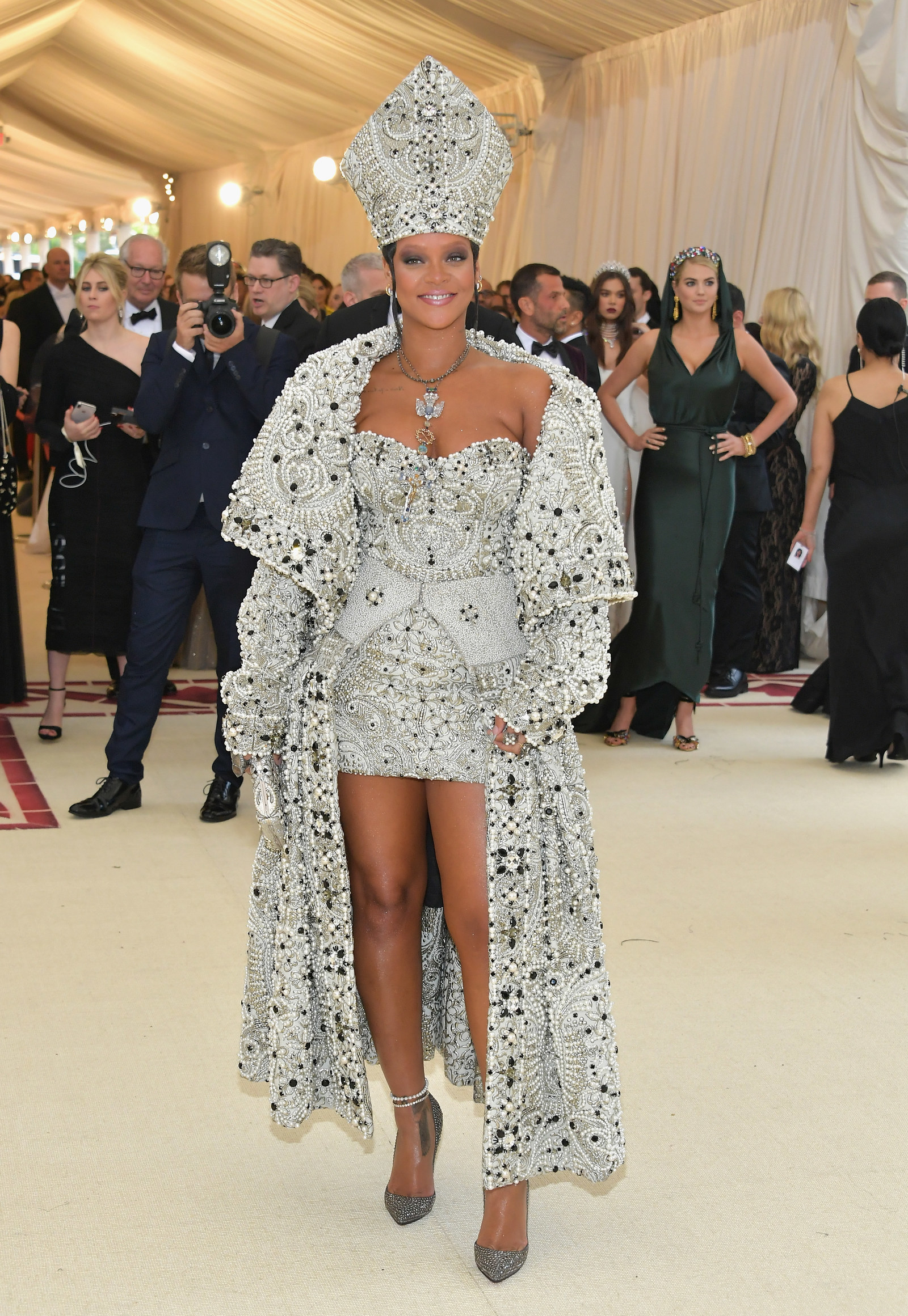 "The icon stayed true to her fashion killa status at this year's MET Gala, where the theme was ""Heavenly Bodies: Fashion and the Catholic Imagination."""