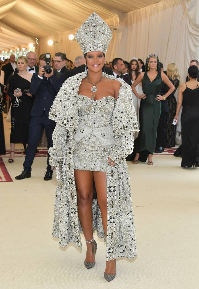 """The icon stayed true to her fashion killa status at this year's MET Gala, where the theme was """"Heavenly Bodies: Fashion and the Catholic Imagination."""""""