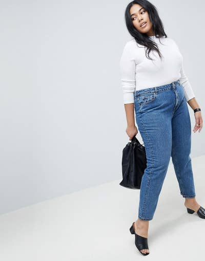 39076dd1f4 A pair of high-waisted mom jeans so you ll have an excuse to wear more crop  tops.