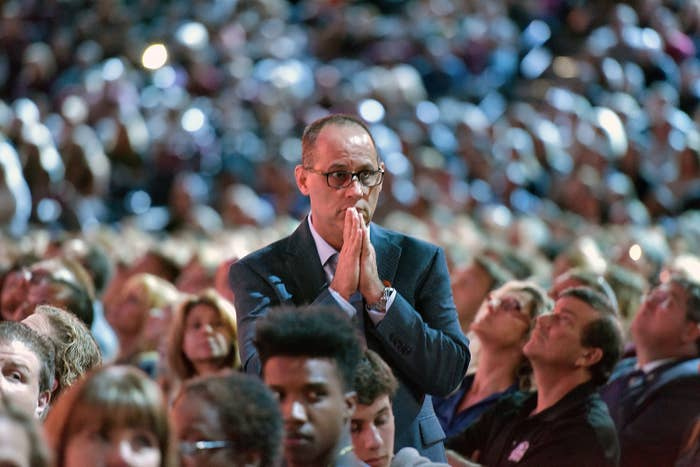 Fred Guttenberg during the CNN town hall meeting on Feb. 21.