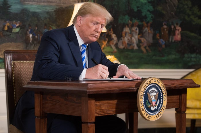 Donald Trump reinstated sanctions against Iran on Tuesday.