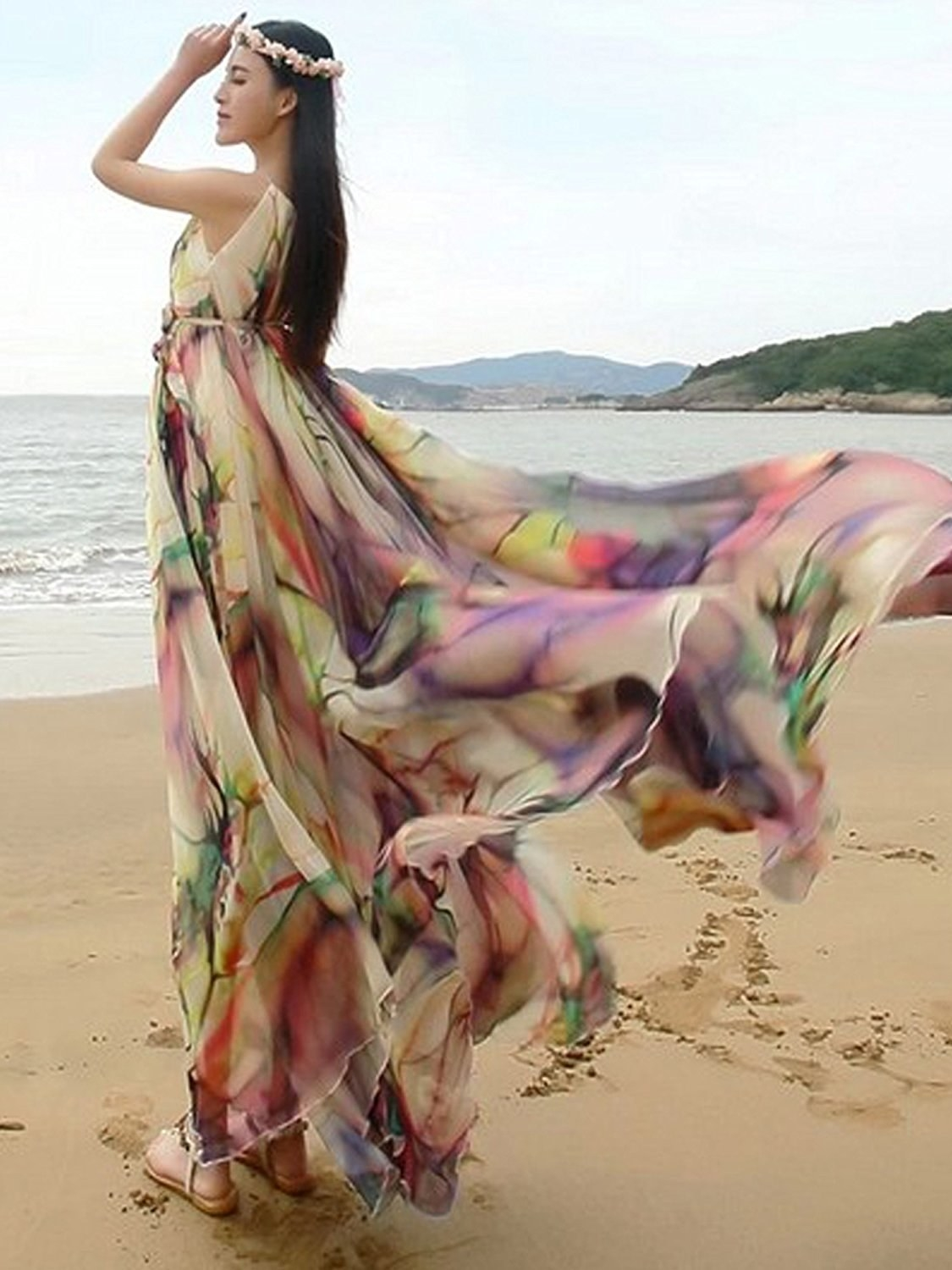a8f6d399e45 A flowing maxi gown that can keep you covered (no matter how much you twist  and twirl).